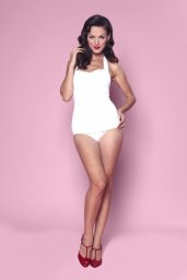 Marilyn Classic One Piece Swimsuit in White