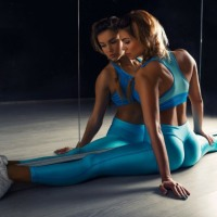 Lovely Gym Bunnies Keeping Fit And Beautiful