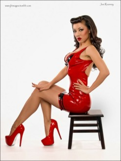 Red Latex Lady (57)