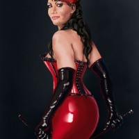 Lovely Luscious Lusty Latex Ladies All In Red