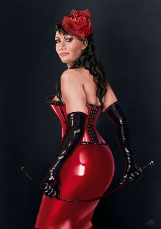 Red Latex Lady (74)