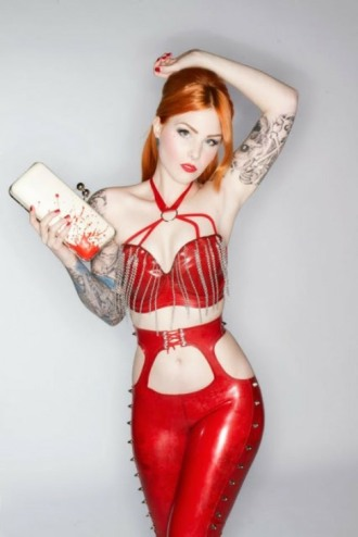 Red Latex Lady (77)