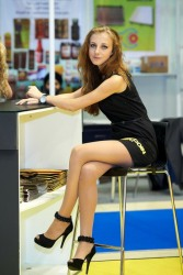 Mini Skirt High Heels (19)