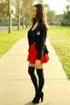 Wearing Red And Black (13)