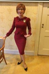 40s Charlene Pencil Dress in Wine