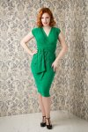 Femme Fatale Pencil Dress in Emerald Green