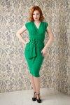 Femme Fatale Pencil Dress in Emerald Green