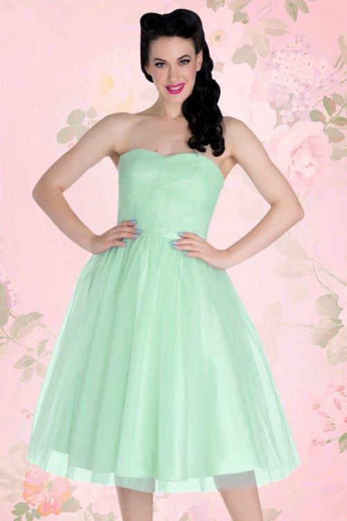 Tamara Party Dress in Mint