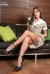 Mini Skirt High Heels (75)