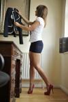 Mini Skirt High Heels (40)