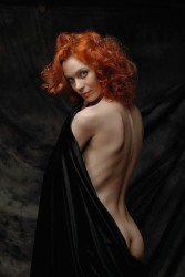 Redhead In Black (13)