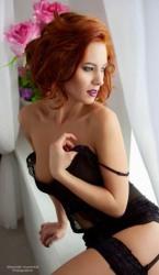 Redhead In Black (3)