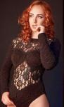 Redhead In Black (6)