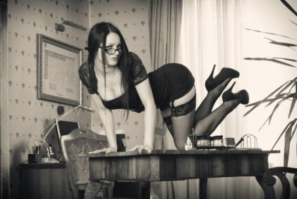 Adrienn Nagy As Sexy Secretary By Balázs Bokor